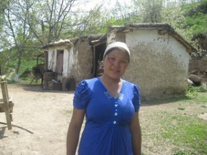 We help a 21 year old mother in Kyrgyzstan buy livestock
